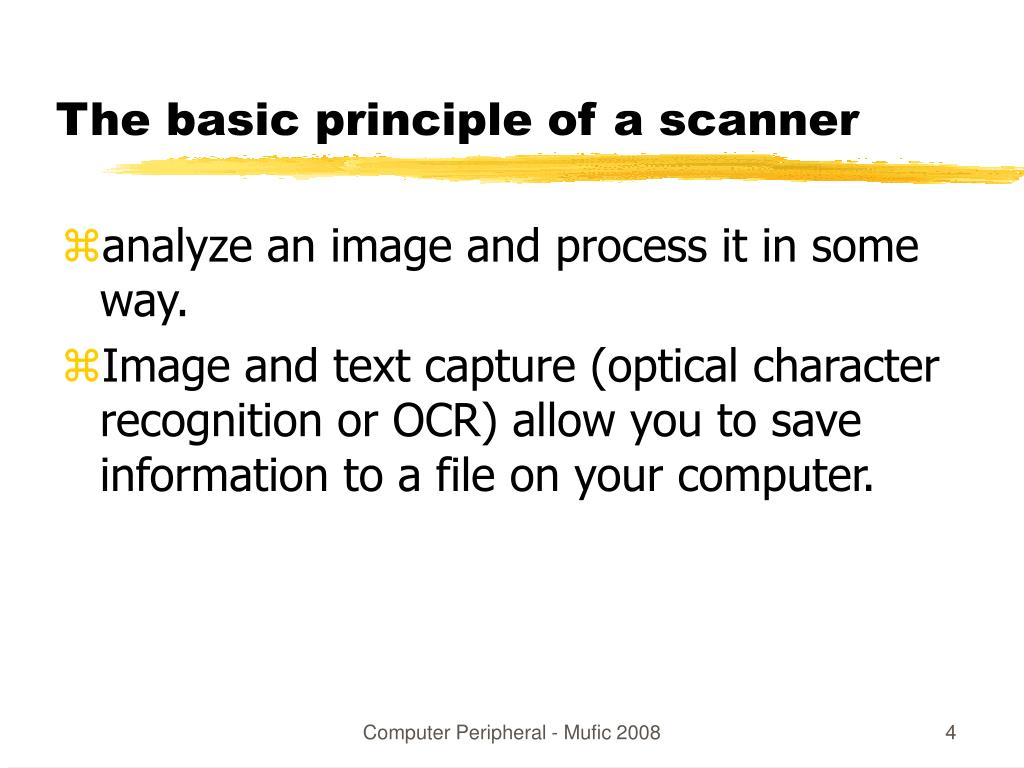 The basic principle of a scanner