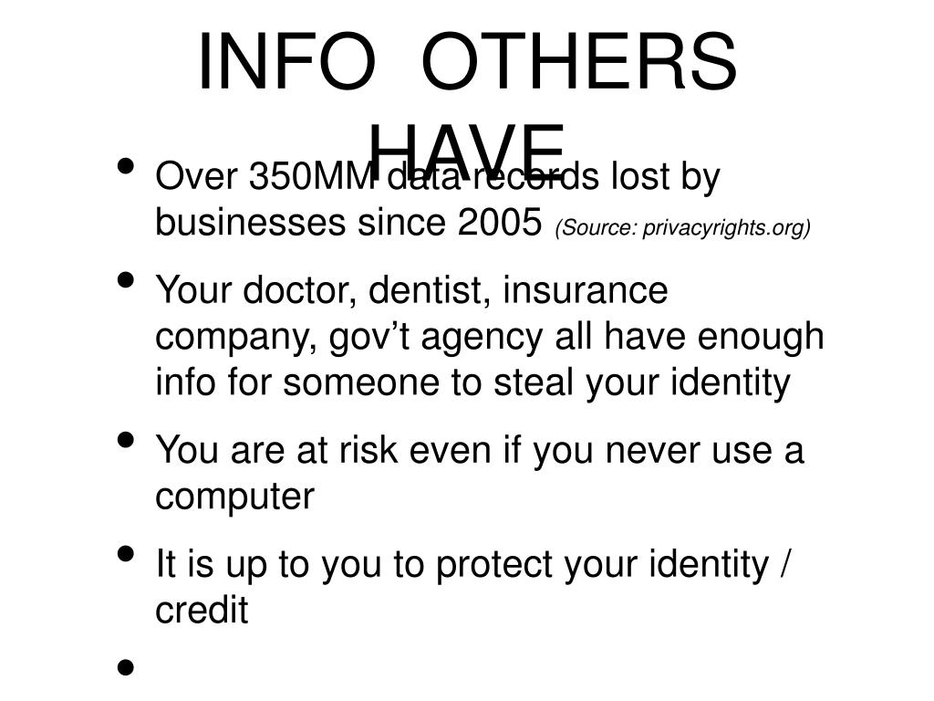 INFO  OTHERS  HAVE