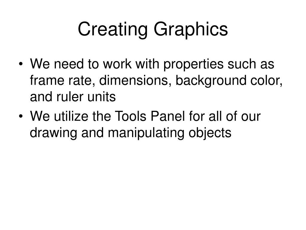 Creating Graphics