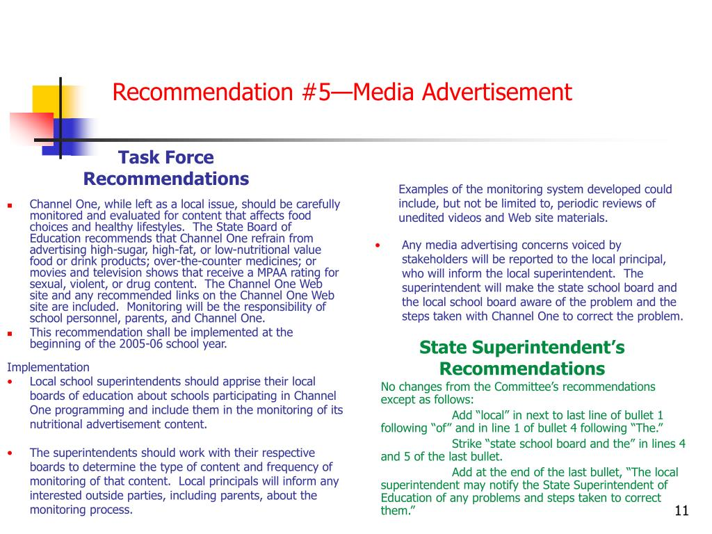 Recommendation #5—Media Advertisement