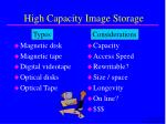 high capacity image storage