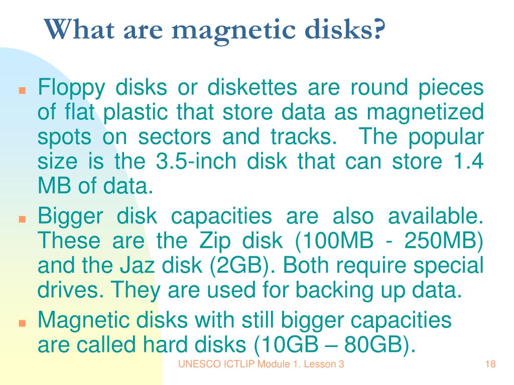 What are magnetic disks?
