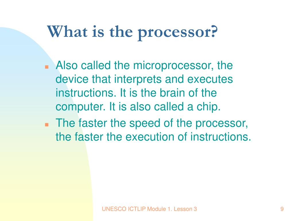 What is the processor?
