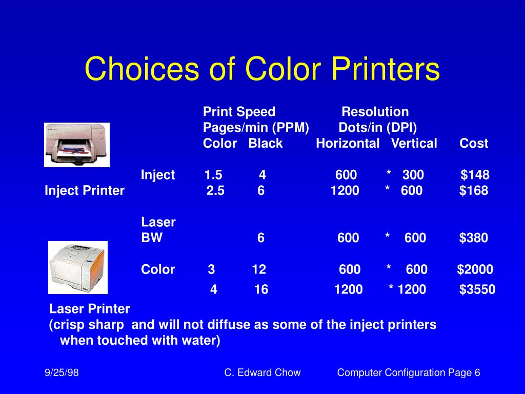 Choices of Color Printers