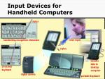 input devices for handheld computers