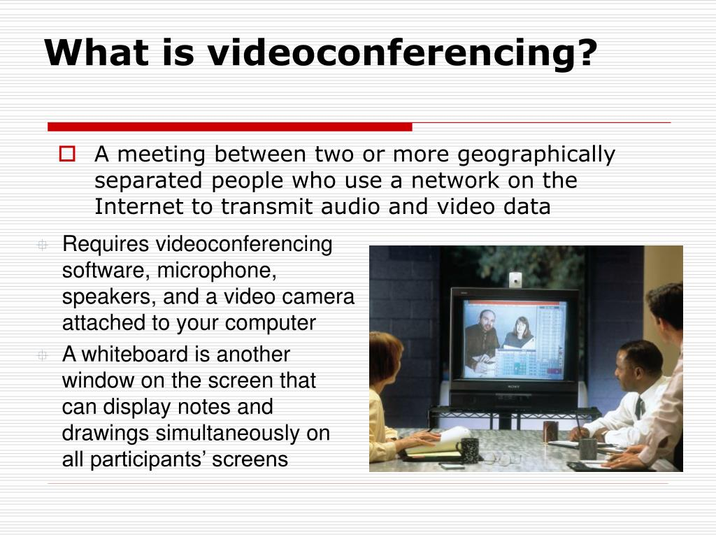 What is videoconferencing?