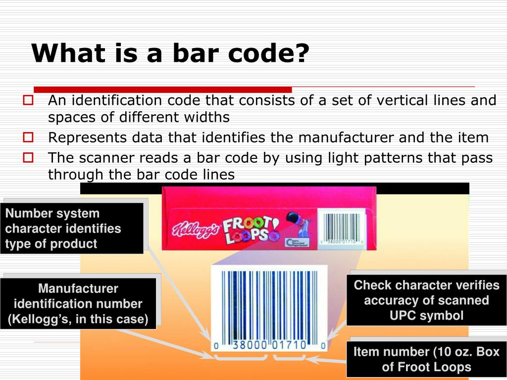 What is a bar code?