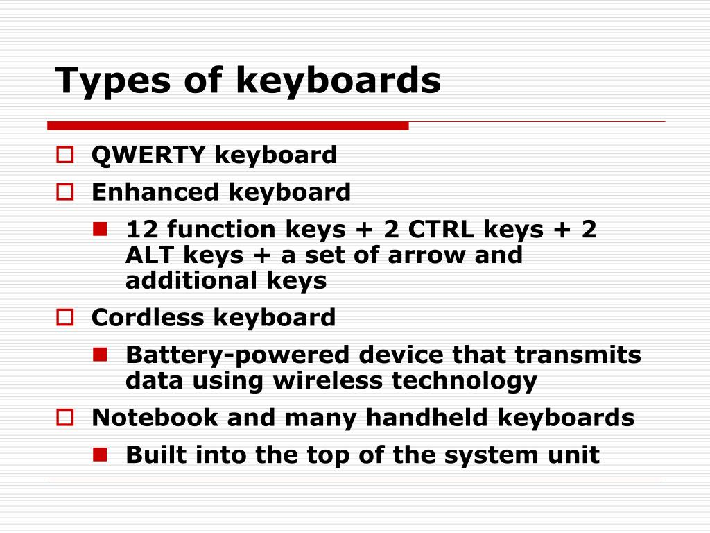 Types of keyboards