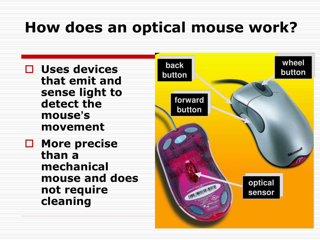 How does an optical mouse work?