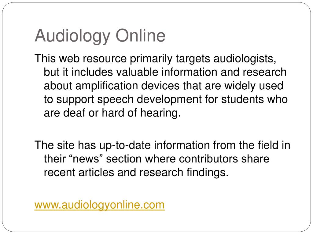 Audiology Online