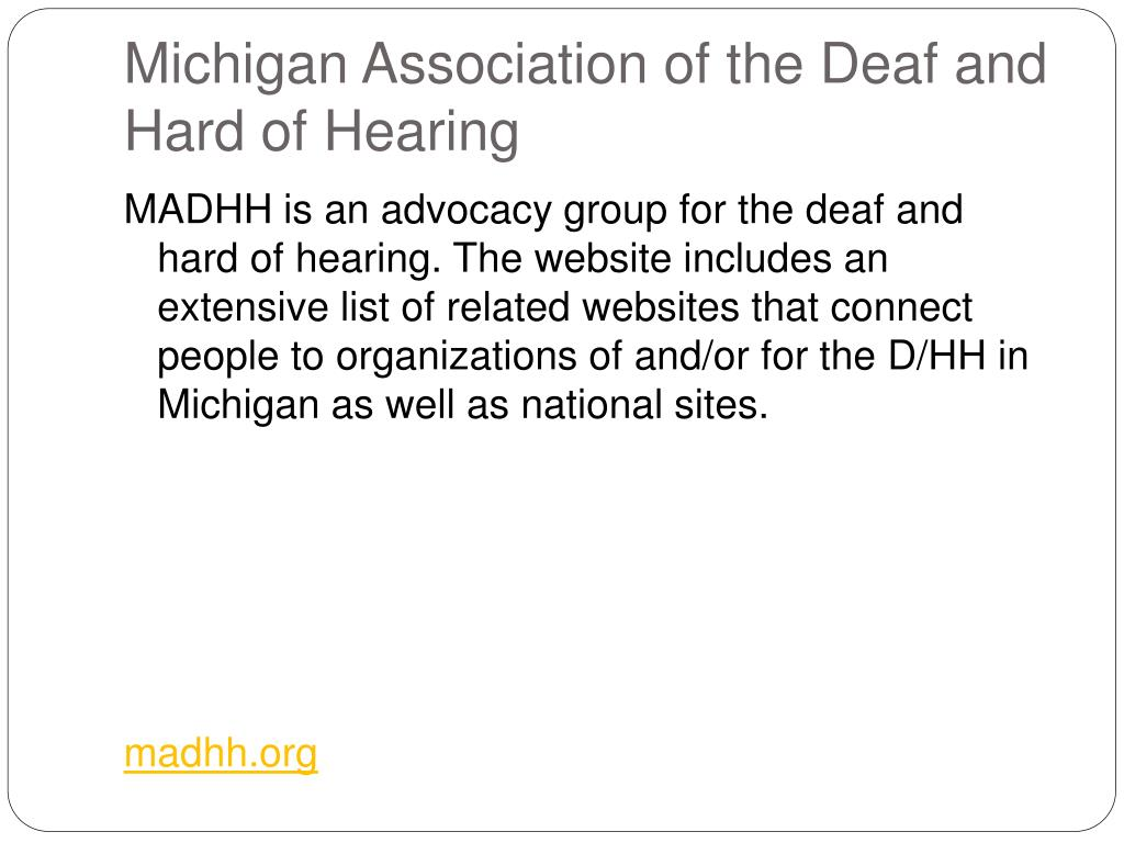 Michigan Association of the Deaf and Hard of Hearing