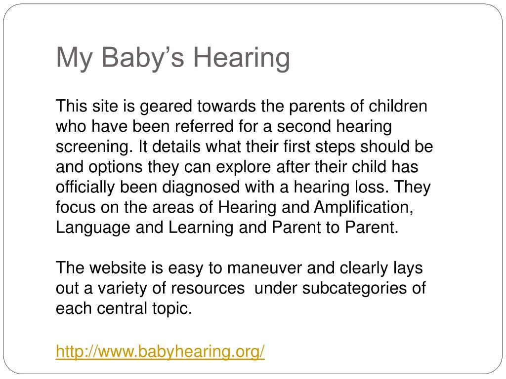 My Baby's Hearing