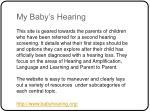 my baby s hearing