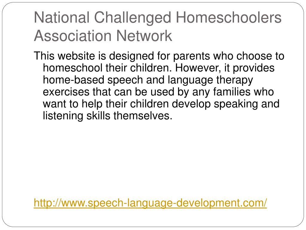 National Challenged Homeschoolers Association Network