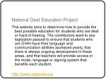 national deaf education project