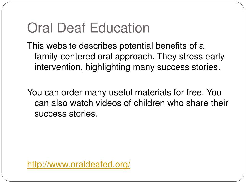 Oral Deaf Education
