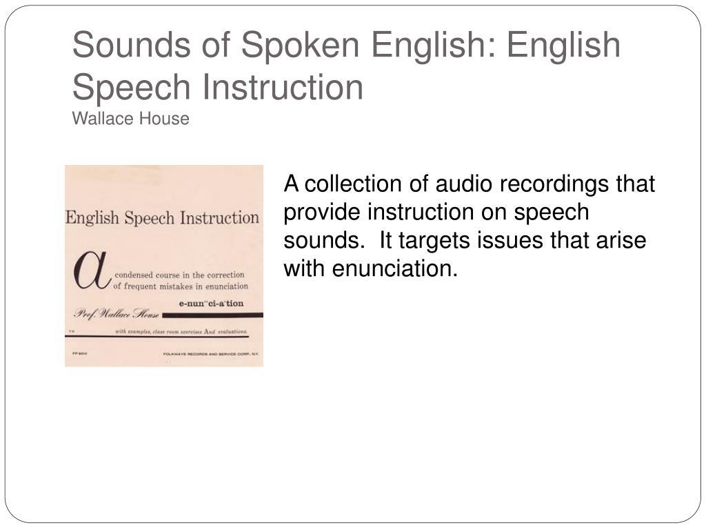 Sounds of Spoken English: English Speech