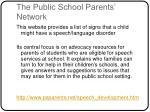 the public school parents network