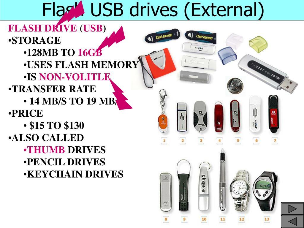 Flash USB drives (External)