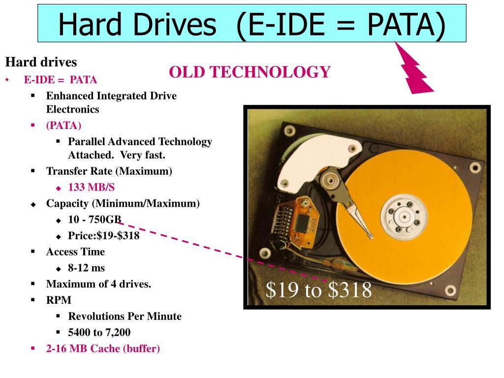 Hard Drives  (E-IDE = PATA)