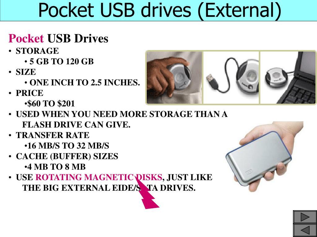 Pocket USB drives (External)