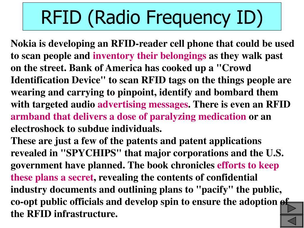 RFID (Radio Frequency ID)
