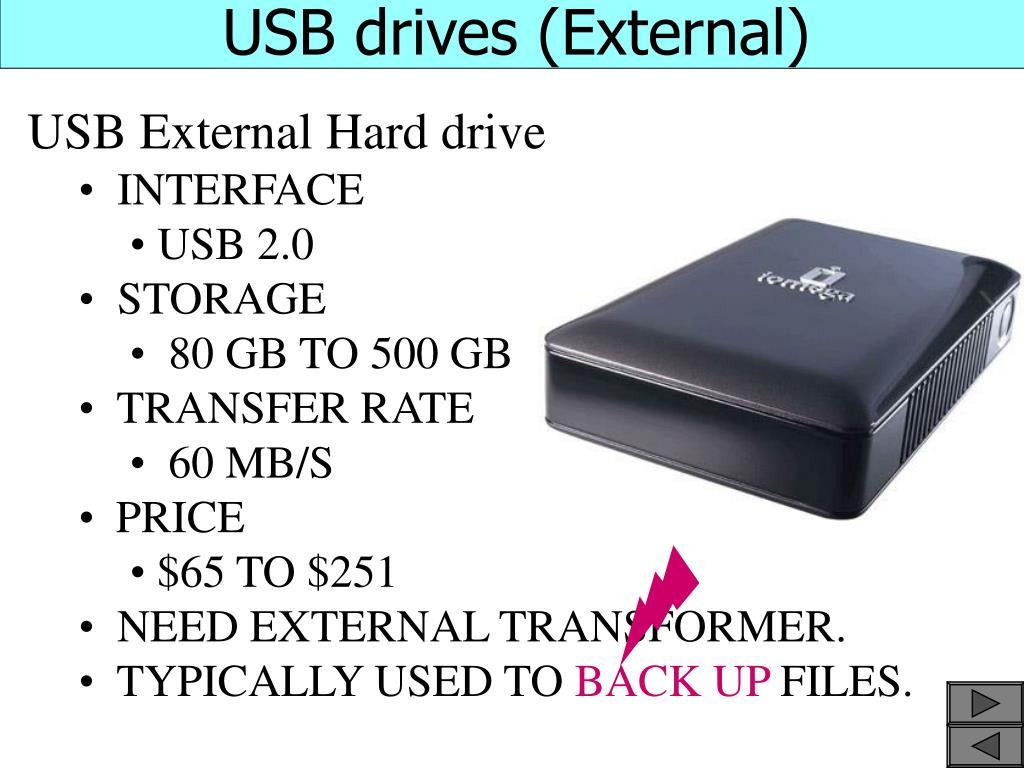 USB drives (External)