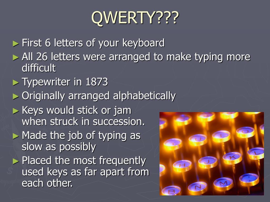 QWERTY???