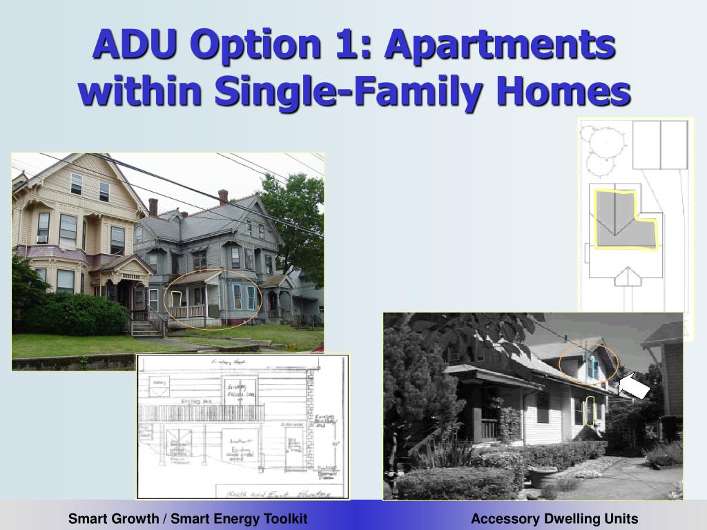 ADU Option 1: Apartments within Single-Family Homes