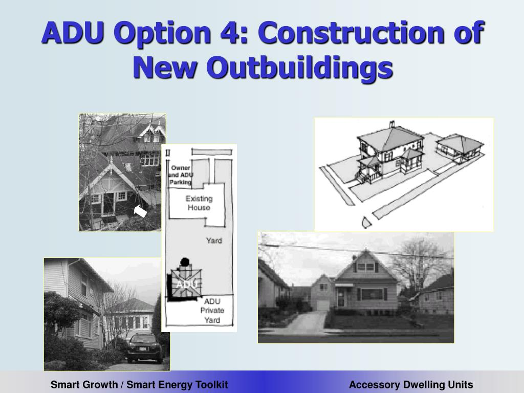ADU Option 4: Construction of New Outbuildings