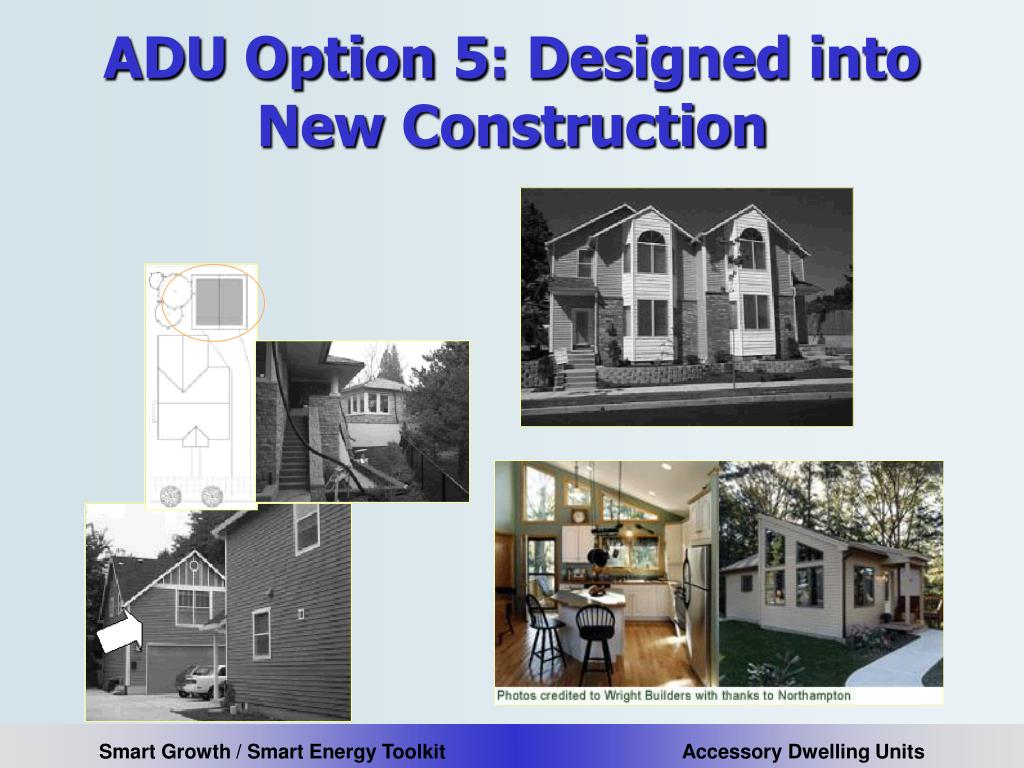 ADU Option 5: Designed into New Construction