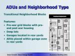 adus and neighborhood type10