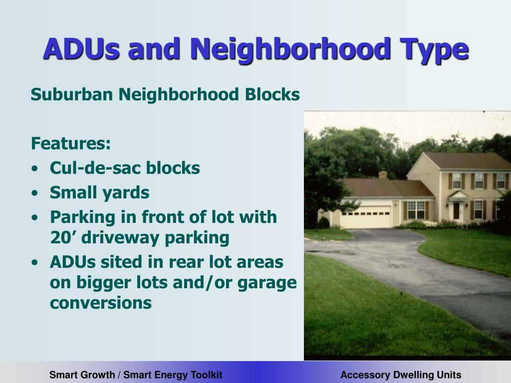 ADUs and Neighborhood Type