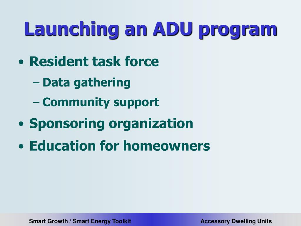 Launching an ADU program
