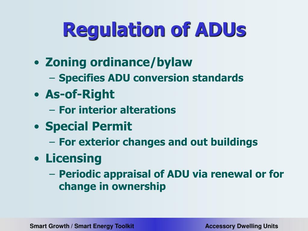 Regulation of ADUs