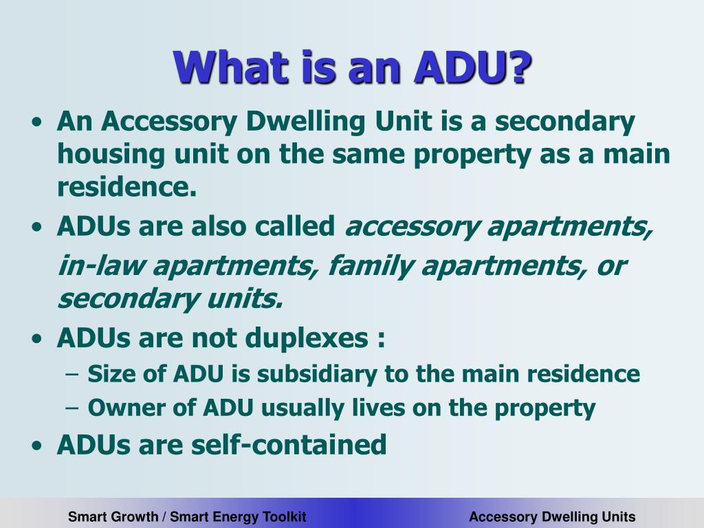 What is an ADU?