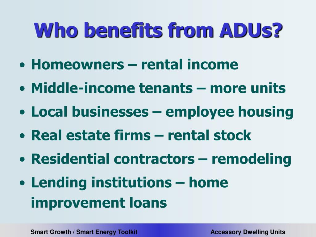Who benefits from ADUs?