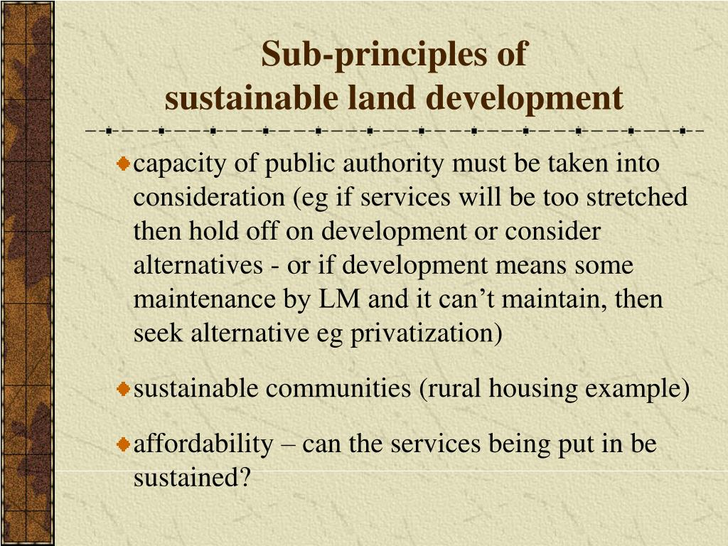 Sub-principles of