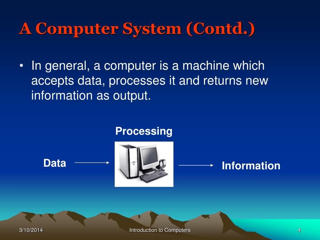 A Computer System (Contd.)