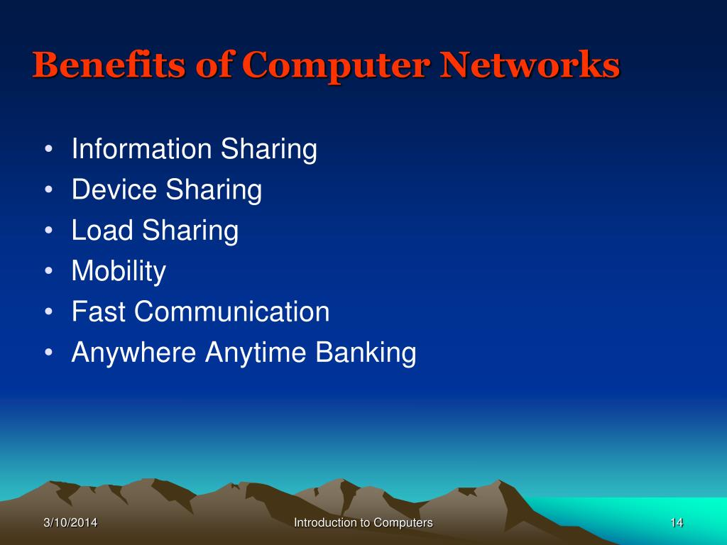 Benefits of Computer Networks