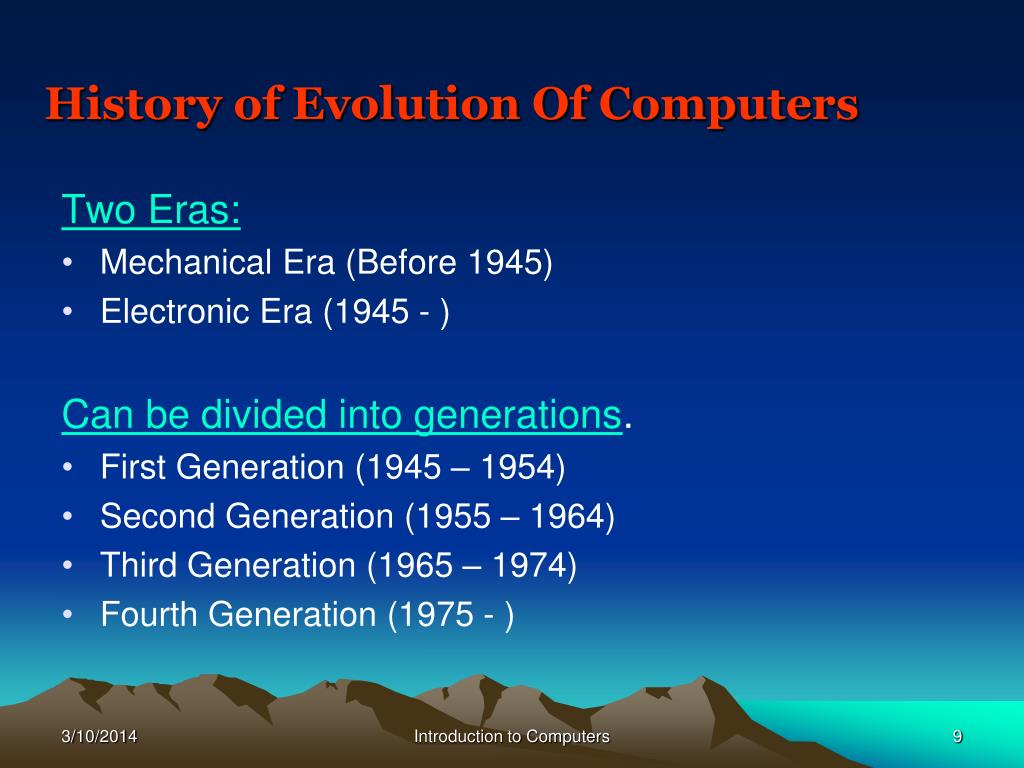 History of Evolution Of Computers