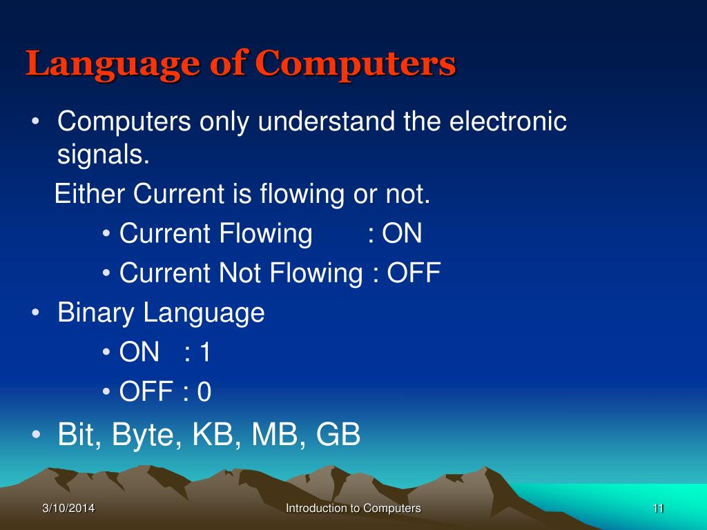 Language of Computers