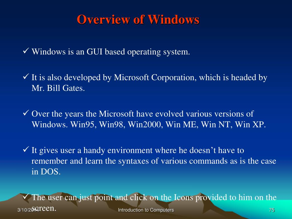 Overview of Windows