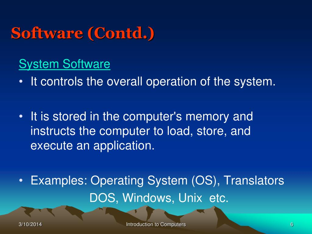 Software (Contd.)