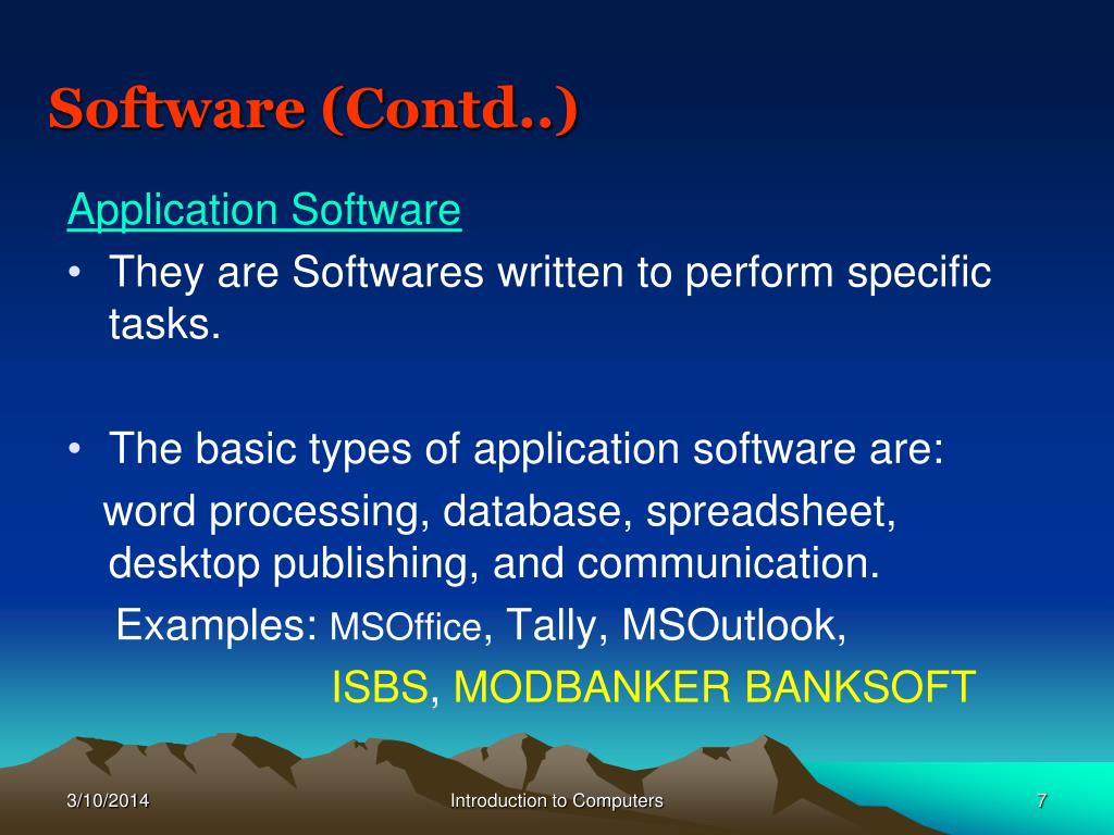Software (Contd..)