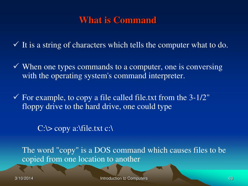 What is Command
