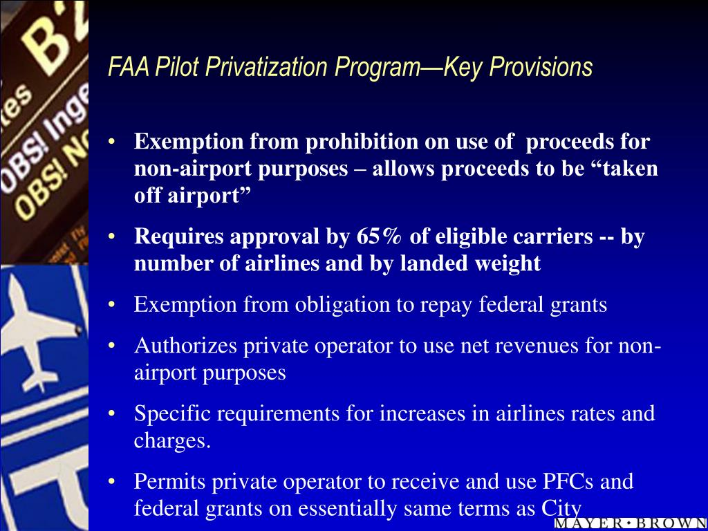 FAA Pilot Privatization Program—Key Provisions