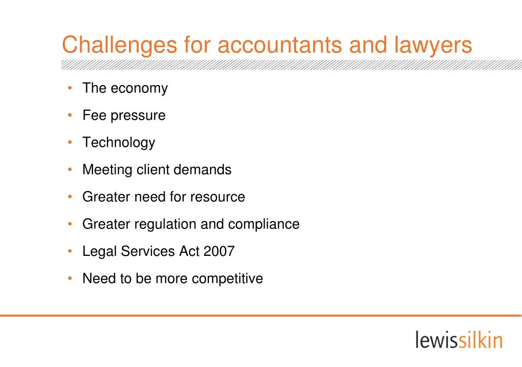 Challenges for accountants and lawyers