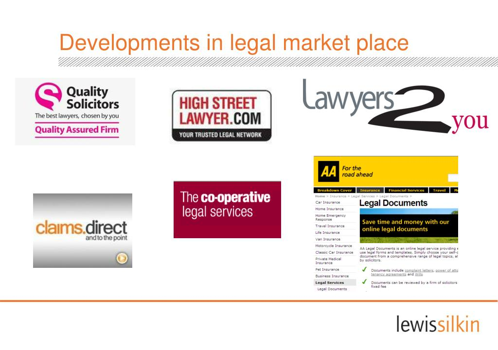 Developments in legal market place