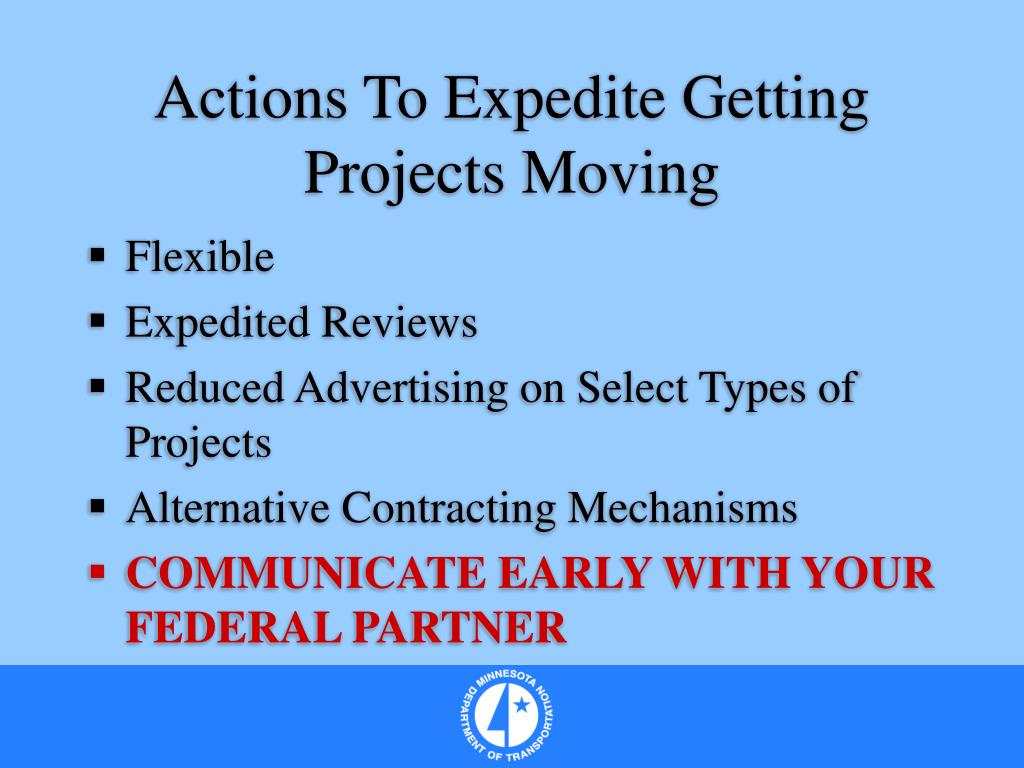 Actions To Expedite Getting Projects Moving